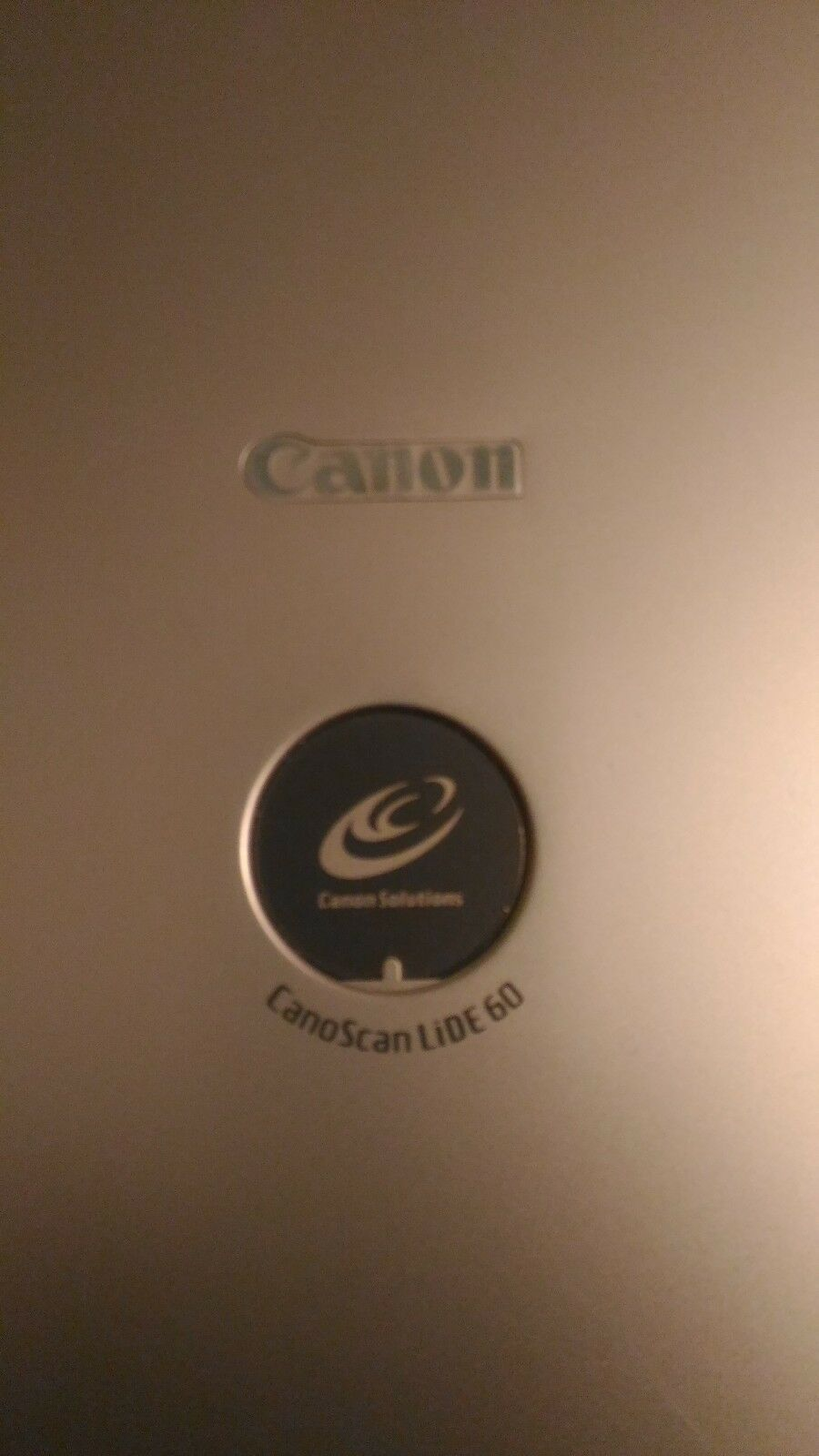 Scanner Piano Canon - Canoscan Lide 60