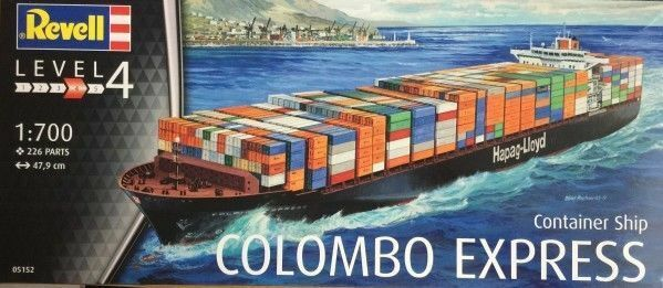 REVELL 05152 NAVE PORTA CONTAINER SHIP COLOMBO EXPRESS 226 PARTI Scala 1:700