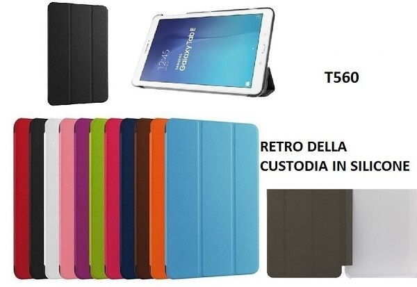 SMART COVER SLIM SAMSUNG GALAXY TAB E 9.6 SM-T560 SM-T561 T570 CUSTODIA TABLET