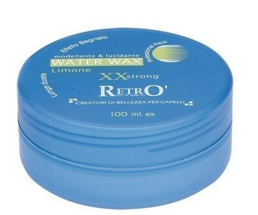 Cera per Capelli Retro' 07 Play System water wax limone xx strong effetto bagnat
