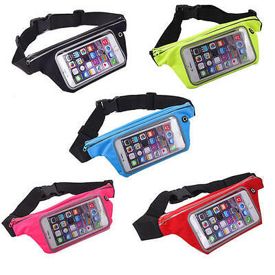 Outdoor Running PVC Mobile Phone Waist Fanny Pack Touch Screen Bag