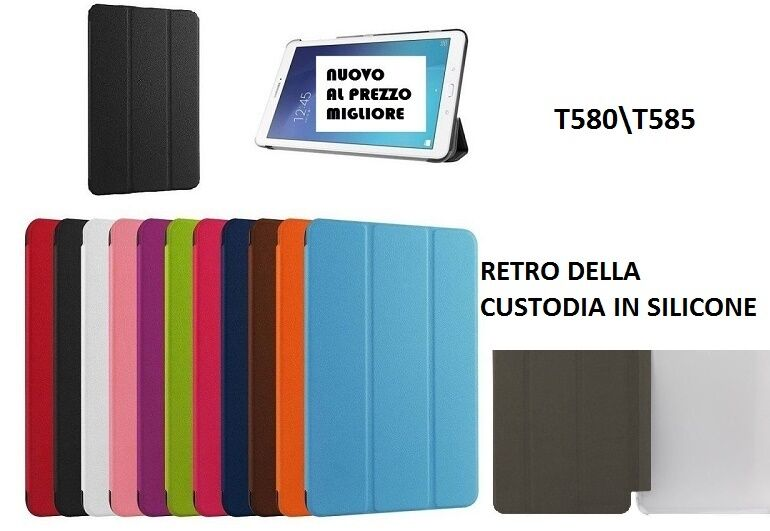 SMART COVER SLIM SAMSUNG GALAXY TAB A 10.1 2016 T580T585 CUSTODIA TABLET -MNT-