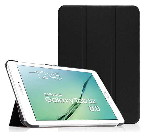 "CUSTODIA SMART COVER Integrale per Samsung Galaxy TAB S2 8.0"" T719 2016 Nera"