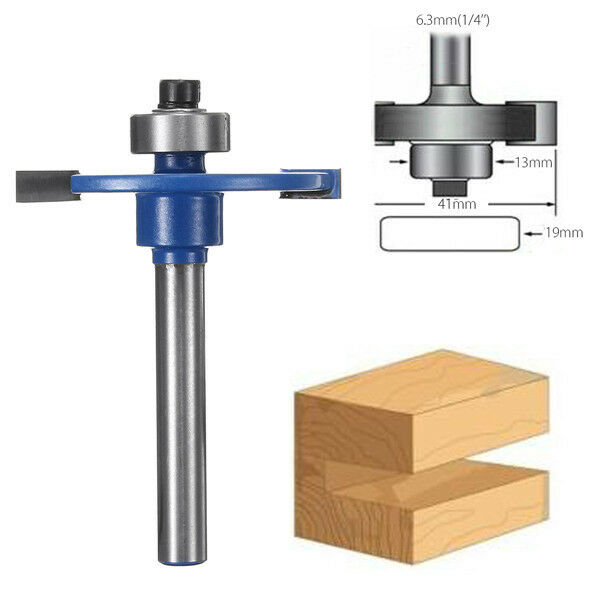Fresa scanalatura 1/4 Inch Shank Biscuit Joiner Cutter Router Bit With Bearing