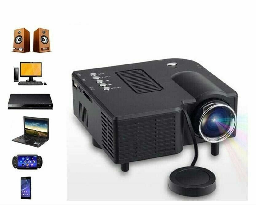 VIDEOPROIETTORE PROIETTORE LED MINI HD 1080P PROJECTOR AV USB VGA HDMI PC SD IT