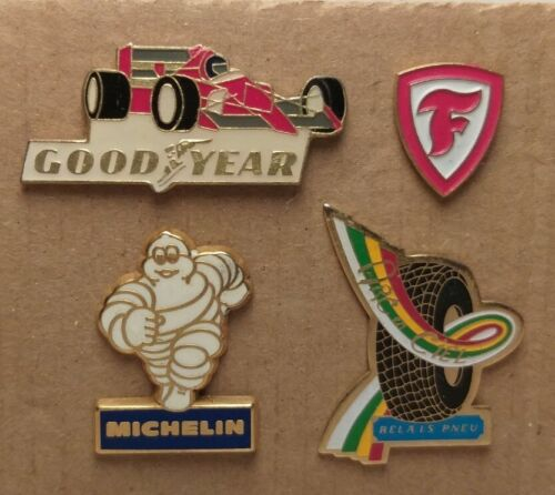 4 SPILLE PINS-PNEUMATICI-MICHELIN-BADGE PATAS STIFTE BROCHES-VINTAGE COLLECTION
