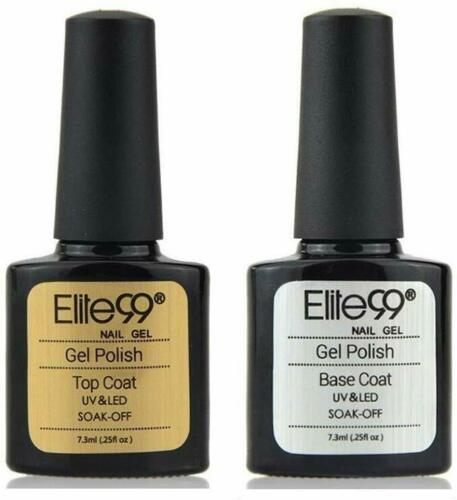 Elite99 Base e Top Coat Semipermanenti, Smalto Semipermente per Unghie in Gel UV