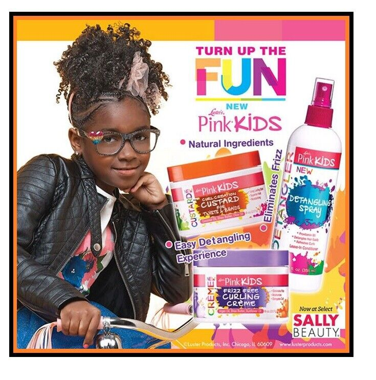 Luster's Pink Kids/Shampoo/ Spray/Easy Comb/Frizz Free Curling Creme-Full Range