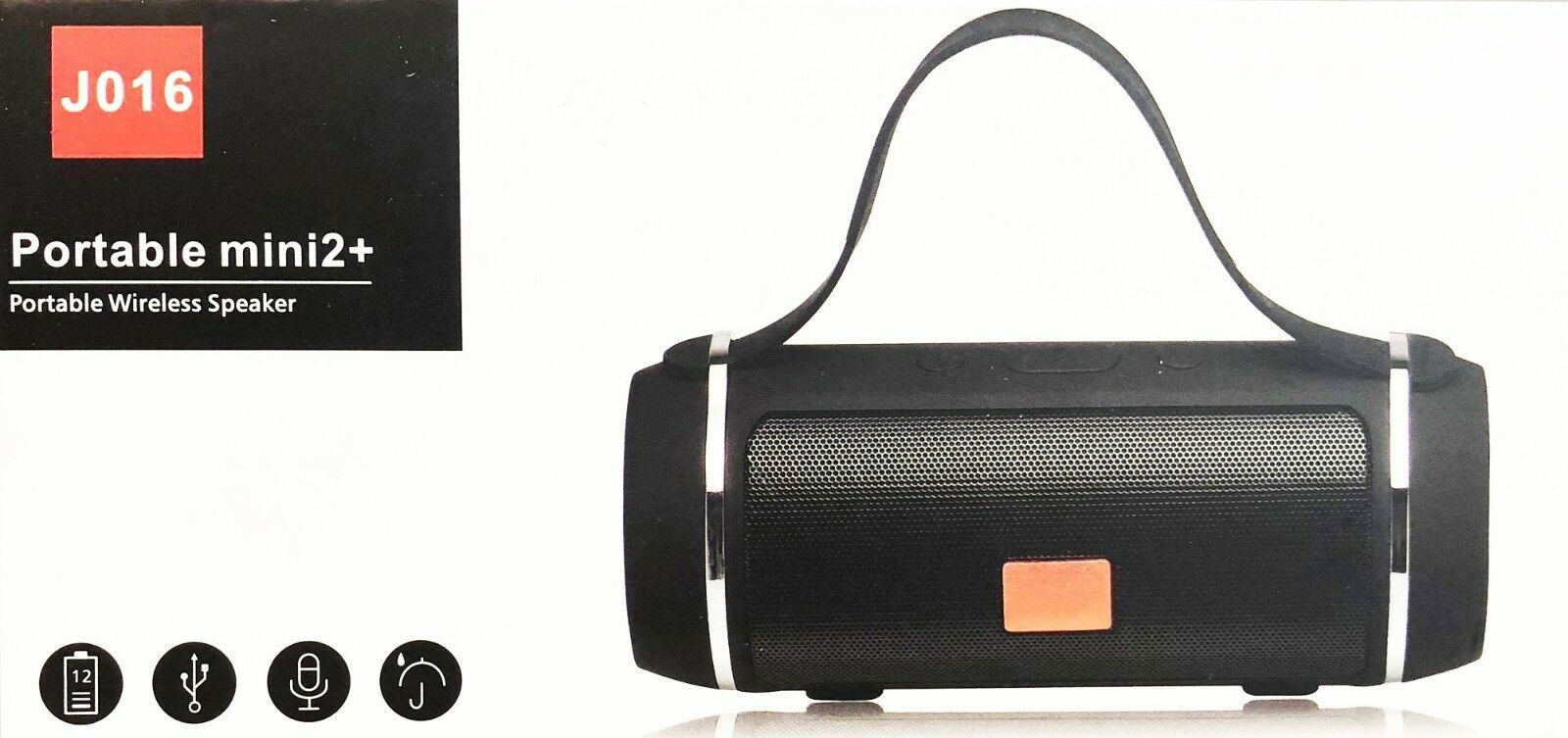 CASSA J016 PORTATILE BLUETOOTH POTENTE per SMARTPHONE PC SPEAKER ALTOPARLANTE
