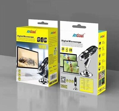 MICROSCOPIO DIGITALE HD 1600X ZOOM USB CON LED